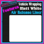 1M X 1520mm VEHICLE CAR VAN WRAP MATT WHITE FINISH FEATURES AIR RELEASE LINER